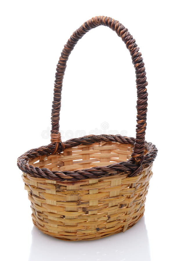 Download Wicker Basket On White Royalty Free Stock Photos - Image: 24736468