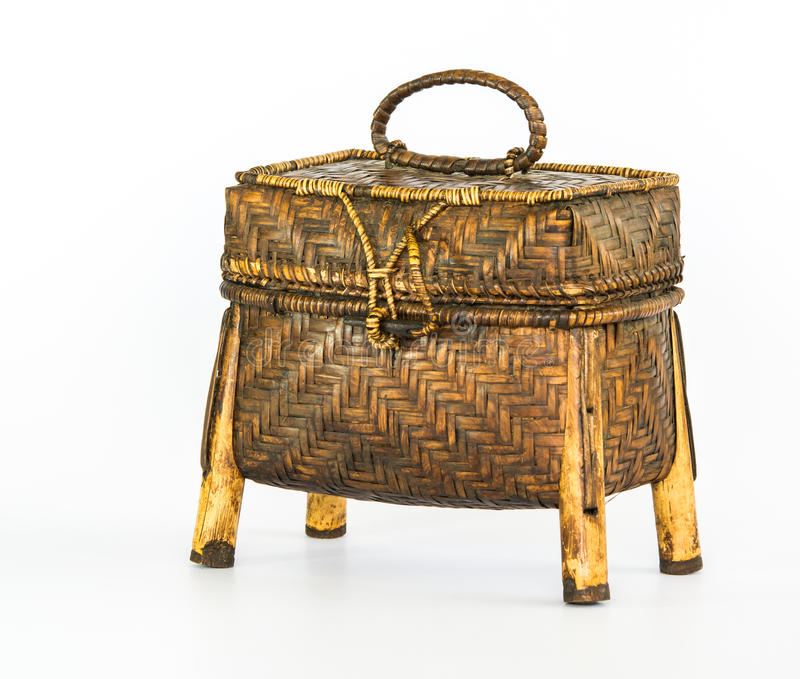Wicker basket. royalty free stock images
