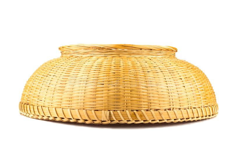 Wicker baskets. inverted. isolated on white background.  stock images