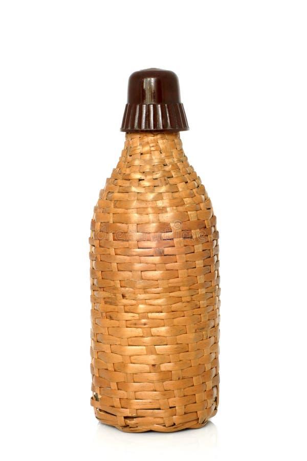 Wicker bottle stock photography