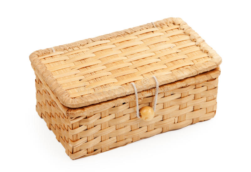 Download Wicker Box stock photo. Image of handle, white, nature - 19421270