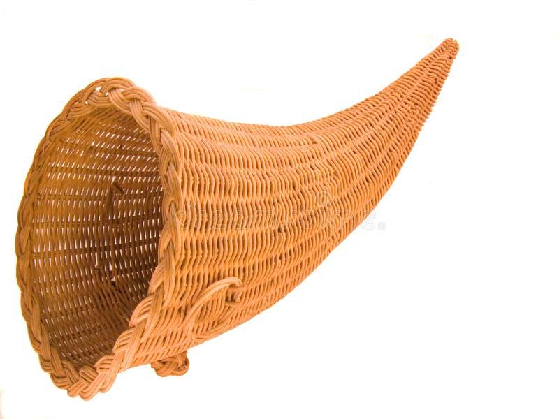 Wicker Cornucopia Basket royalty free stock images