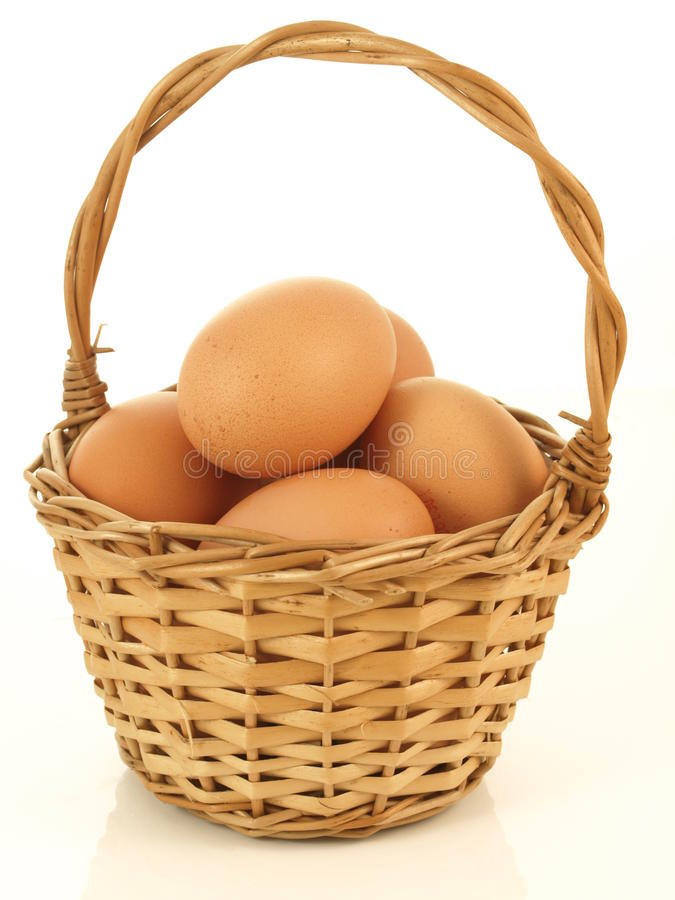 Download Wicker of eggs stock photo. Image of group, diet, health - 24764936