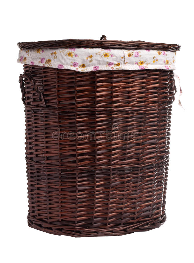 Download Wicker hamper stock photo. Image of laundry, wood, full - 27059628