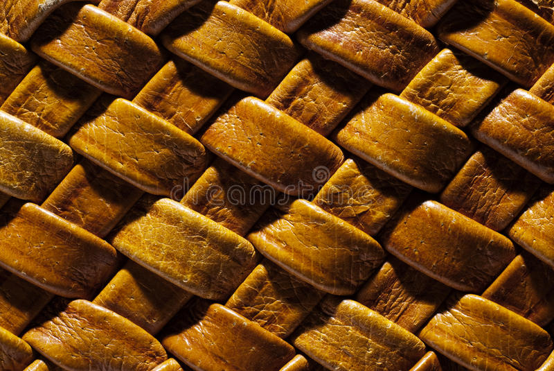 Wicker natural leather background stock image