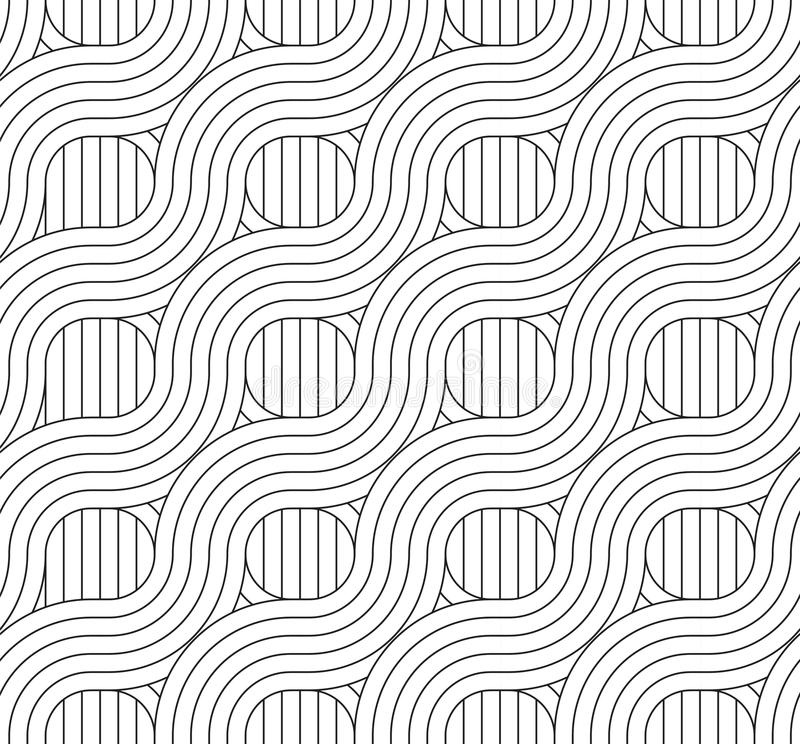 Free WICKER PARALLEL STRIPED LINES TEXTURE. TWISTED SEAMLESS VECTOR PATTERN. Royalty Free Stock Image - 120804746
