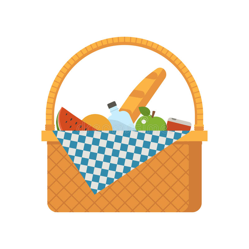 Free Wicker Picnic Basket Stock Images - 78536574
