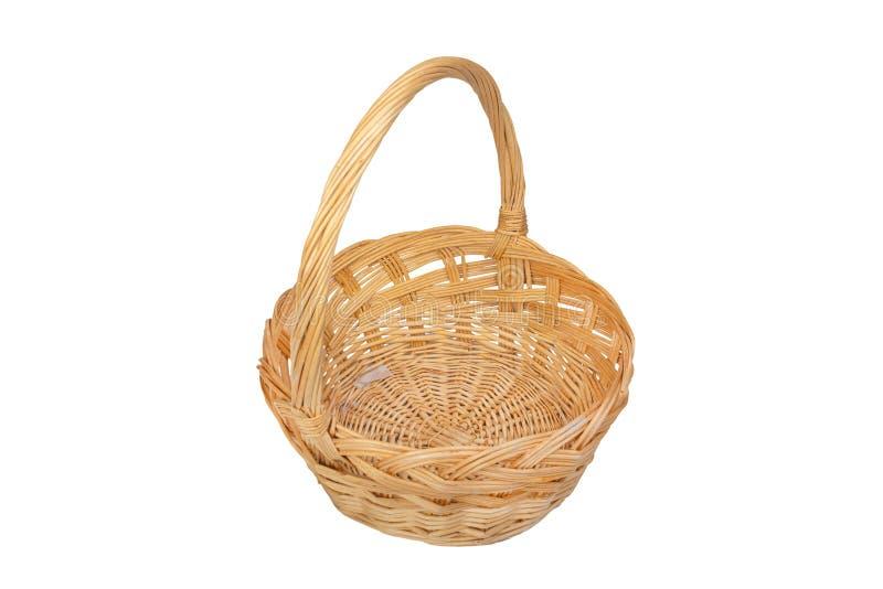Wicker Basket Isolated stock photo