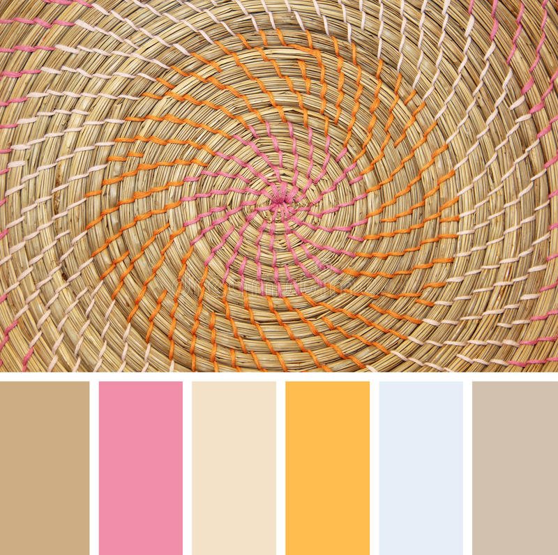 Download Wicker Placemat,  Colour Palette Swatches. Stock Photo - Image: 31487712