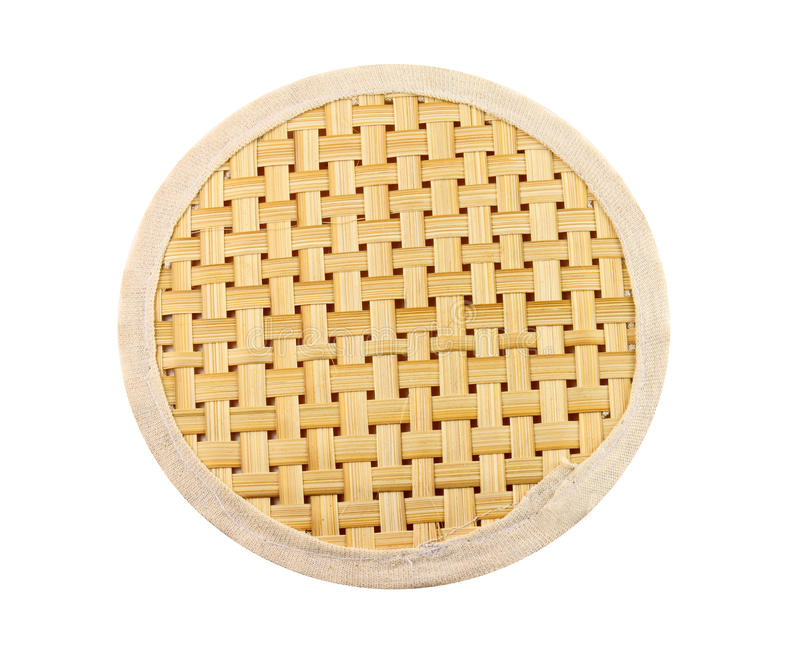 Download Wicker placemat isolated stock image. Image of circle - 25182807