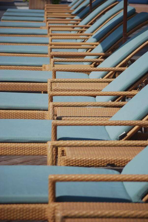 Free Wicker Reclining Chaise Lounge Chairs Royalty Free Stock Images - 14820769