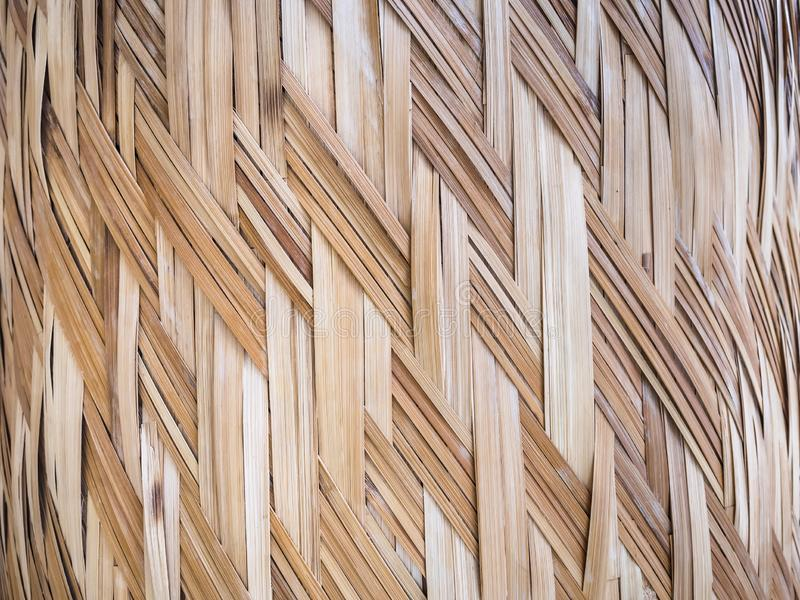 Wicker surface Bamboo pattern texture Craft natural background royalty free stock photos