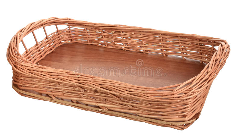 Wicker tray royalty free stock photography