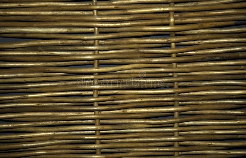 Wickerwork. A piece of willow wickerwork stock photography