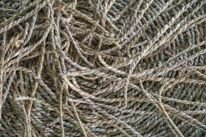 Wickerwork rzemiosła tekstura robić od suchego turzycy tła Zakończenie w górę nawierzchniowej tekstury ręcznie robiony rze zdjęcia stock
