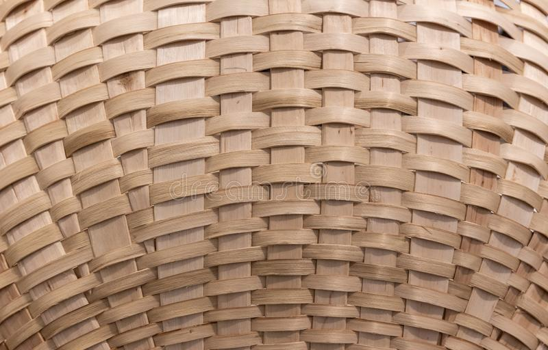 Wickerwork texture background. Antique wickerwork pattern used for baskets. Close up royalty free stock photos