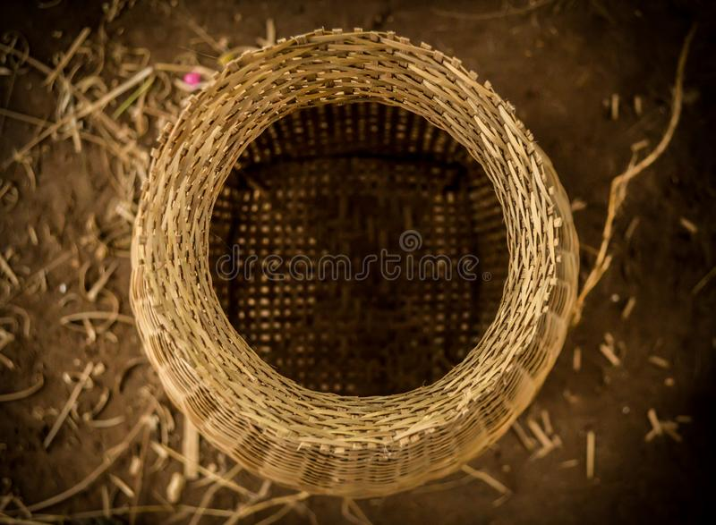 Wickerwork of villagers in Thailand. Wickerwork of villagers in countryside Thailand royalty free stock photography