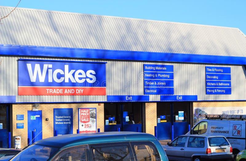 Wickes贸易和DIY存储。 库存照片