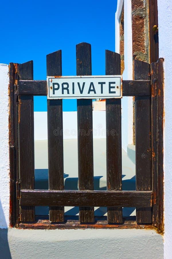 Wicket com sinal privado foto de stock