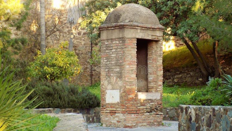 Wicket del  LAGA-Andalusia-Spagna-Europa del castello-Mà di Gibralfaro immagini stock