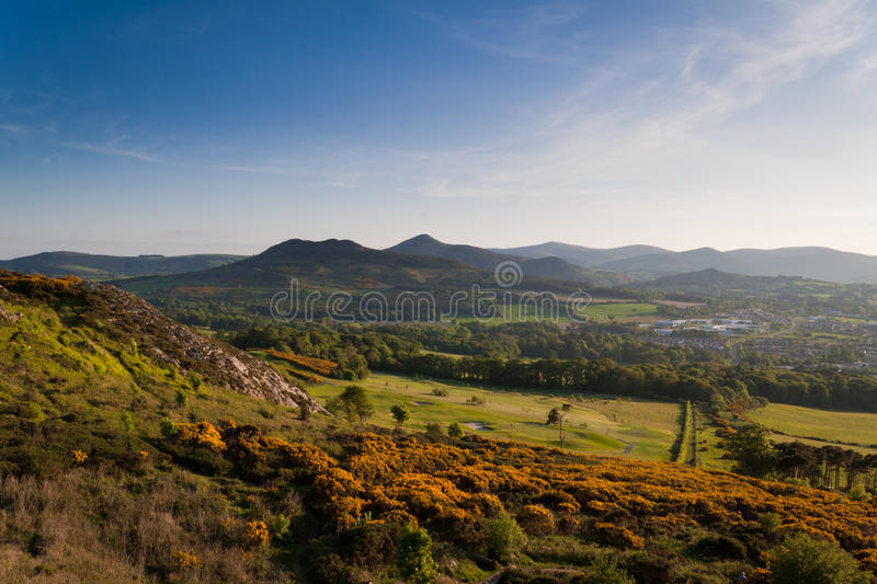 Download Wicklow Mountains stock image. Image of silhouettes, colors - 15777229