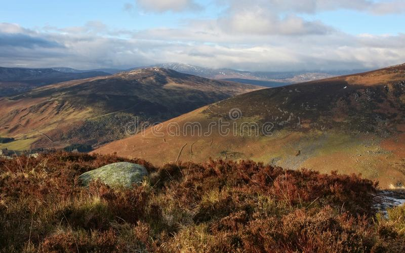 Wicklow Mountains - Ireland. A landscape stretching right next to the Guinness Lake stock image