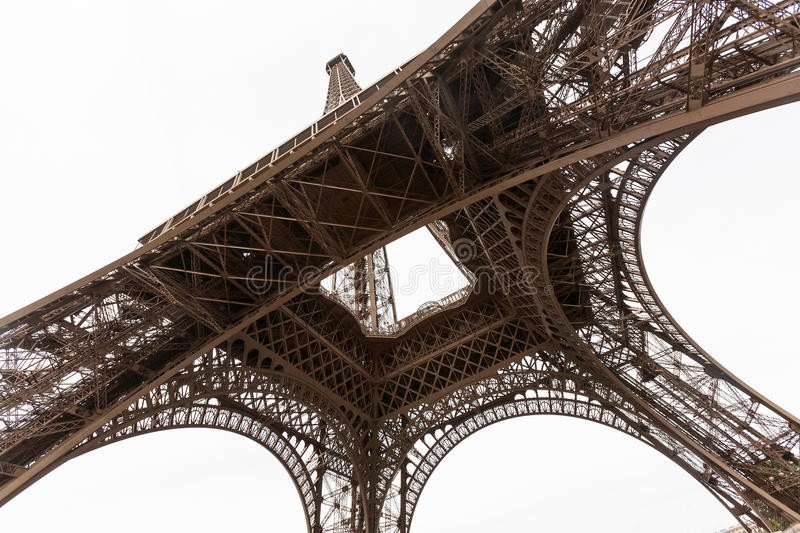 Download Wide Angel View Of Eiffel Tower From Below Stock Image - Image: 23407207