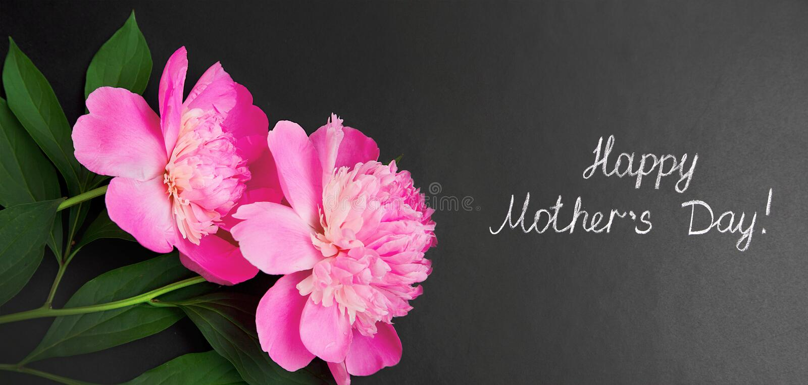 Wide Angle Creative greeting card Happy Mothers Day stock images