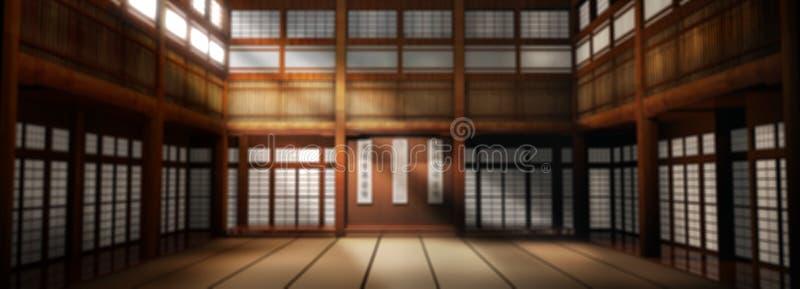 Wide Angle Dojo Background. Wide Angle Martial Arts Dojo Studio Backdrop for Portraits