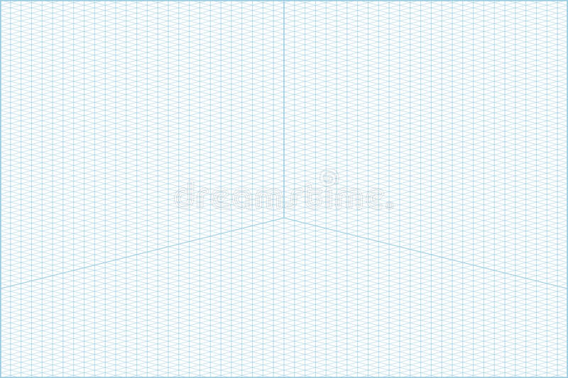 Wide Angle Isometric Grid Graph Paper Background Stock Vector