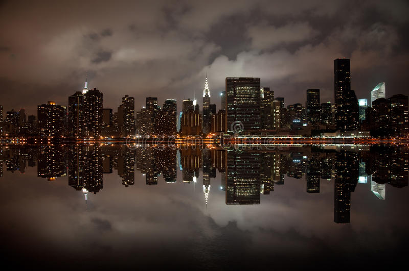 Wide angle of New york skyline stock images