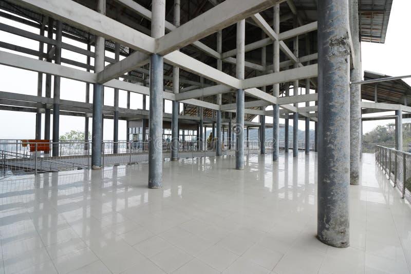 Wide angle shot of concrete architecture detail. Concrete pole stock photos