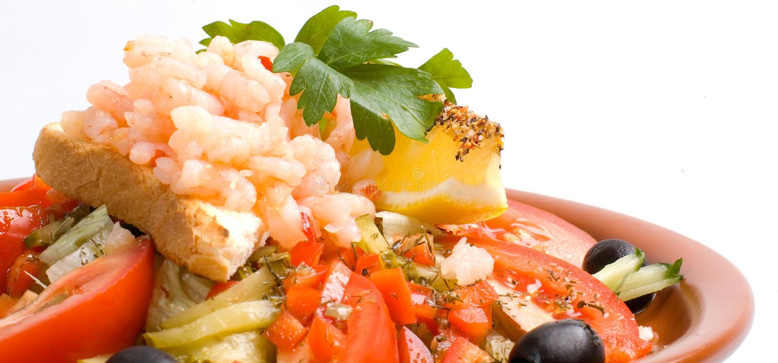 Download Wide Angle Shrimp Salad Royalty Free Stock Photography - Image: 2441107