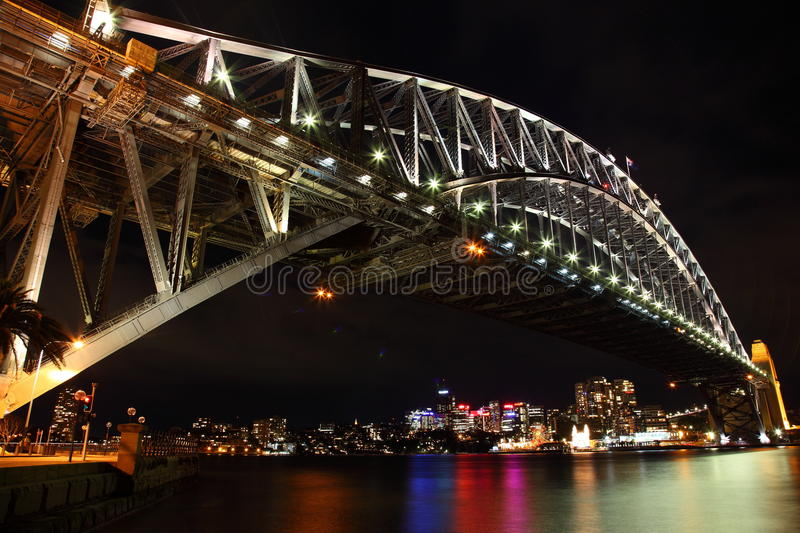 Wide angle of Sydney Harbour Bridge royalty free stock photo