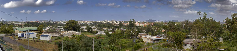 Wide angle view of community of Cerro Gordo in Bayamon Puerto Rico. Wide angel view of community of Cerro Gordo in Bayamon Puerto Rico royalty free stock photo