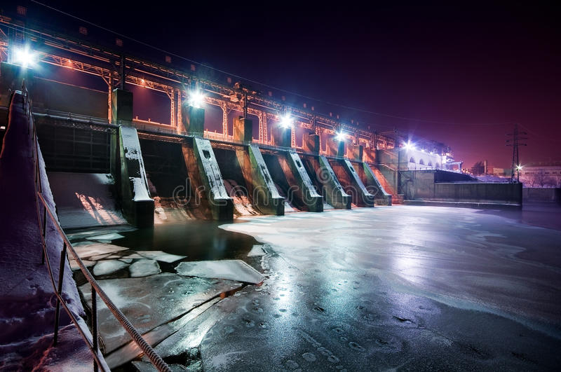 Download Wide angle view of a dam stock photo. Image of engineering - 12904038