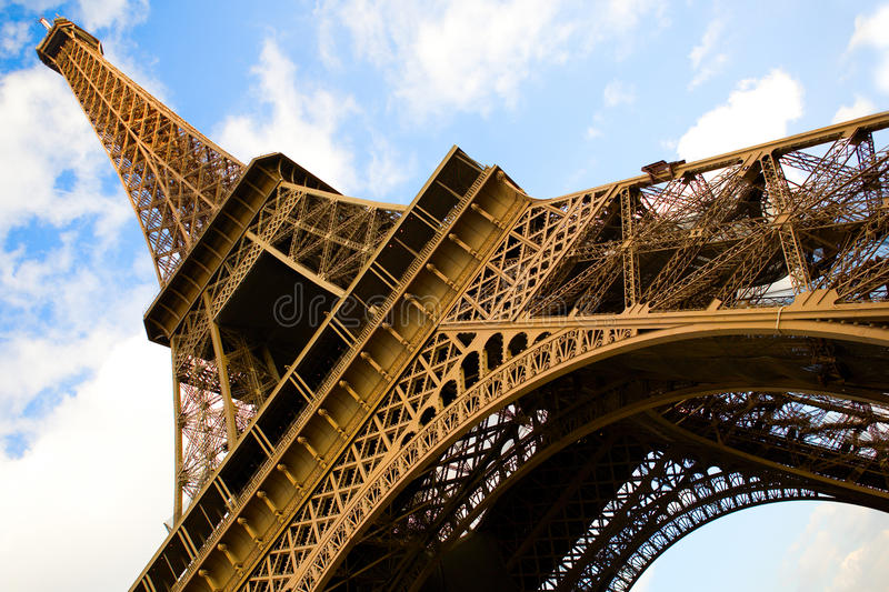 Download Wide Angle View Of The Eiffel Tower Stock Image - Image: 13449647