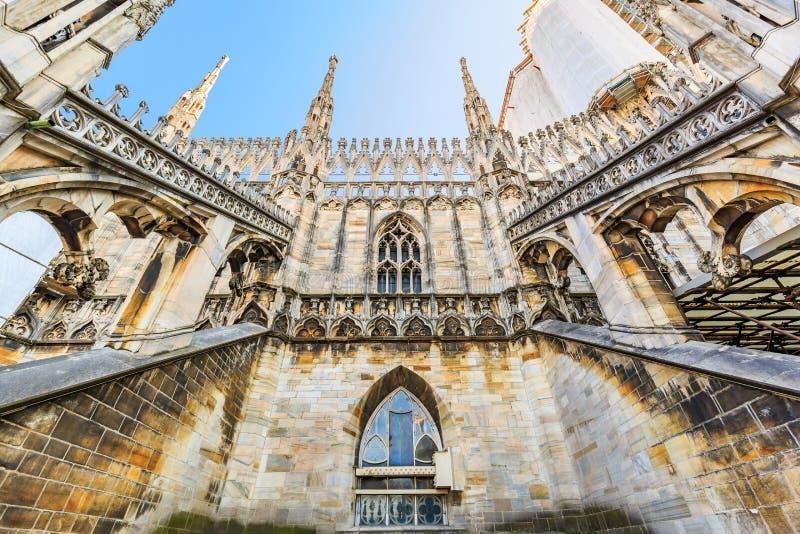 Roof of Milan Cathedral Duomo di Milano royalty free stock photos