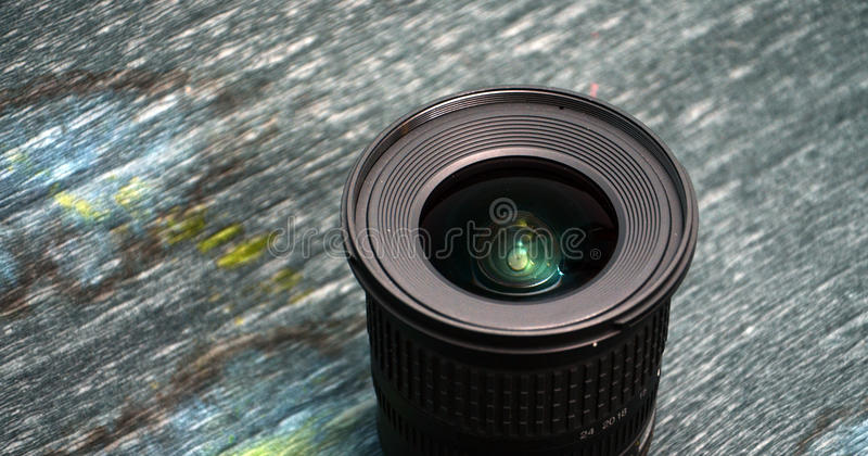 Wide angle zoom dslr lens royalty free stock image