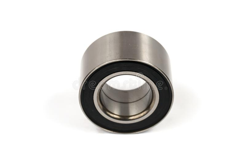 Wide ball bearing for the front hub of the car suspension stock photo