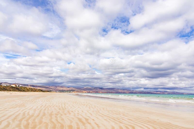 Wide beach in Australia stock photography