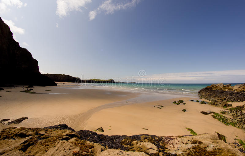 Wide Beach Cornwall Royalty Free Stock Photo
