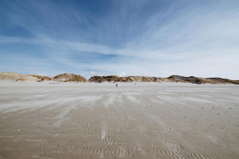 Wide beach during low tide royalty free stock images