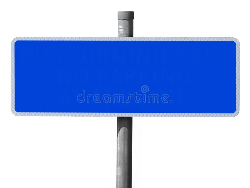 Wide Blue Blank Sign. Royalty Free Stock Image