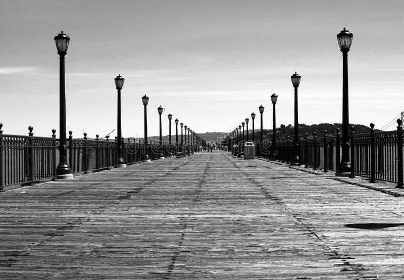 Download Wide boardwalk stock image. Image of boardwalk, streetlamps - 24599055