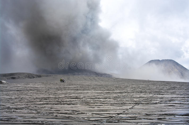 Wide caldera and vulcanos, Java, Indonesia royalty free stock images