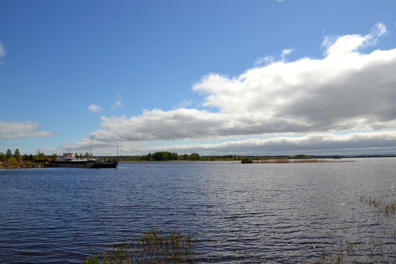 The Volga-Baltic canal near the town of Vytegra royalty free stock photos