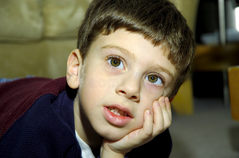 Wide Eyed Child stock photography
