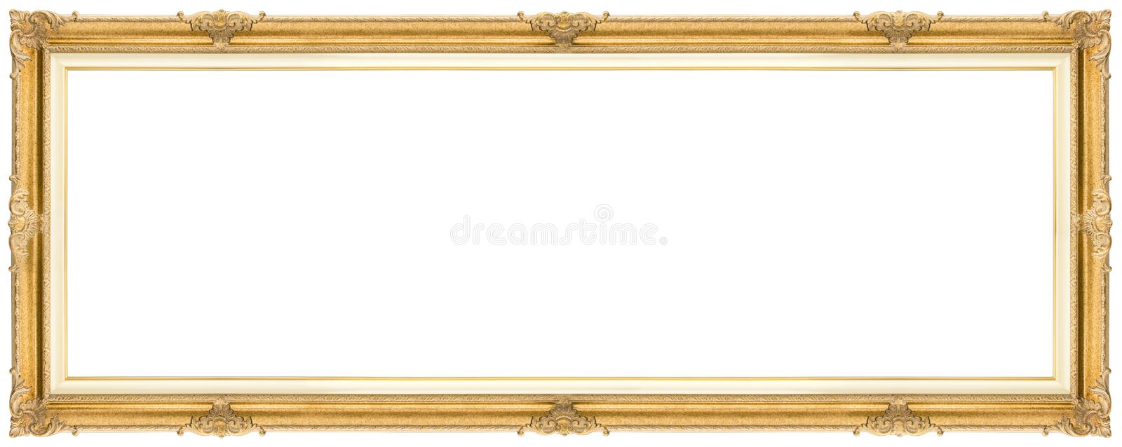 Wide Golden Frame royalty free stock photo