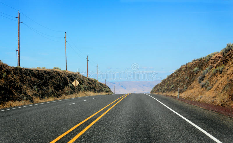 Wide Highway royalty free stock photo
